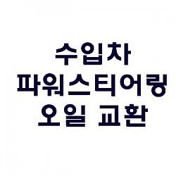 [BENZ] 파워스티어링 오일 교환