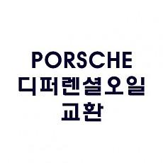 [PORSCHE] 디퍼렌셜 오일 교환