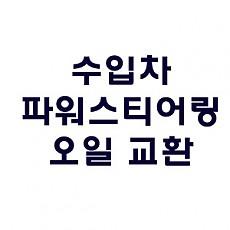 [PEUGEOT] 파워스티어링 오일 교환