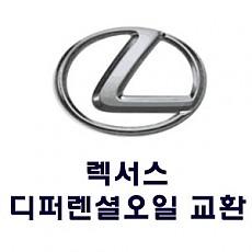 [LEXUS] 디퍼렌셜 오일 교환