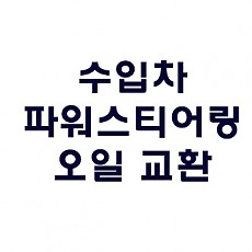 [HONDA] 파워스티어링 오일 교환